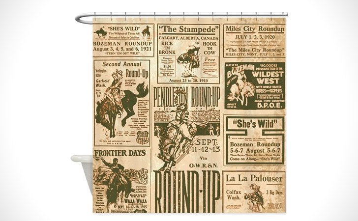 This Vintage Rodeo Shower Curtain