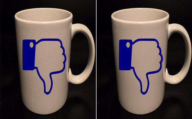 Thumbs Down Social Media Mug