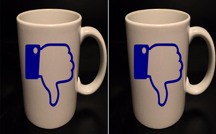 Thumbs Down Social Media Mug