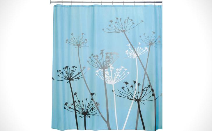 Vivian Thistle Shower Curtains