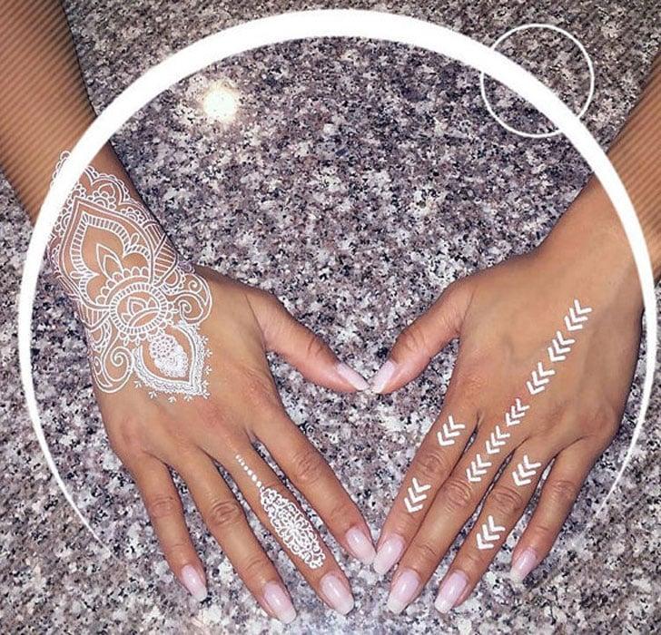 Henna Wrist Designs Lace: White Lace Henna Tattoos