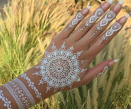 White Lace Henna Tattoos