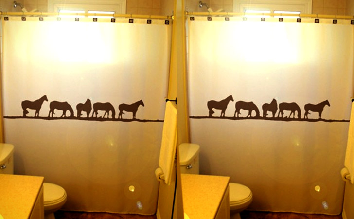 Wild Horse Shower Curtain - coolest shower curtains