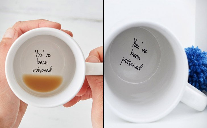 You've Been Poisoned Prank Coffee Mug