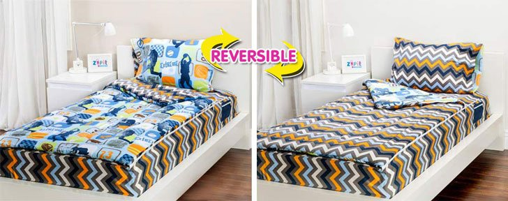 Zip Up Bedding Set Awesome Stuff 365