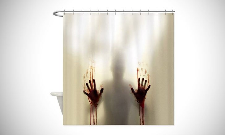 zombie shower curtain - funny shower curtain