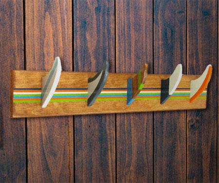 Surfboard Fin Coat Rack