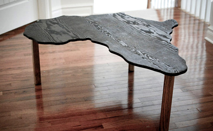 Africa Shaped Coffee Table