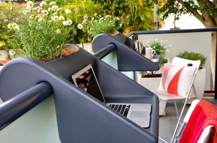 Attachable Balcony Desk