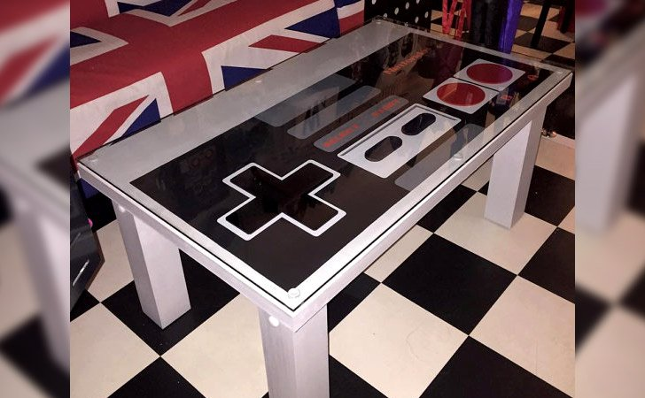 Black And White Nintendo Pad Coffee Table