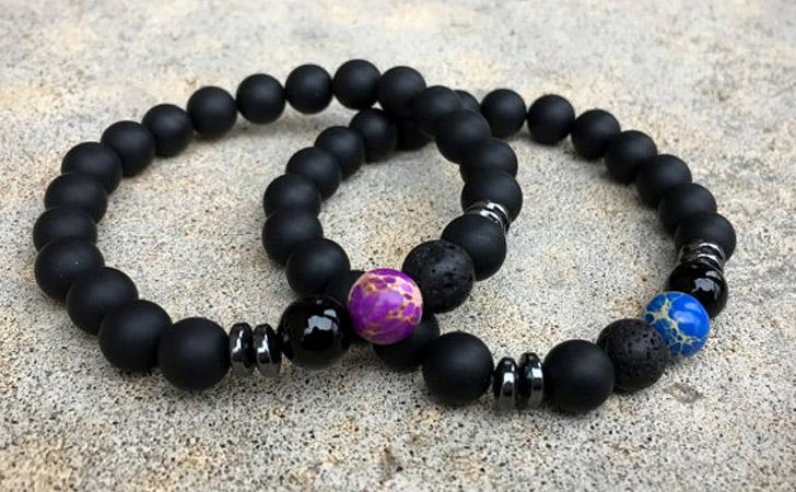 Blue and Purple Long Distance Bracelets