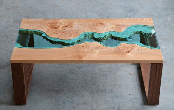 Burled River Coffee Table Unique Tables