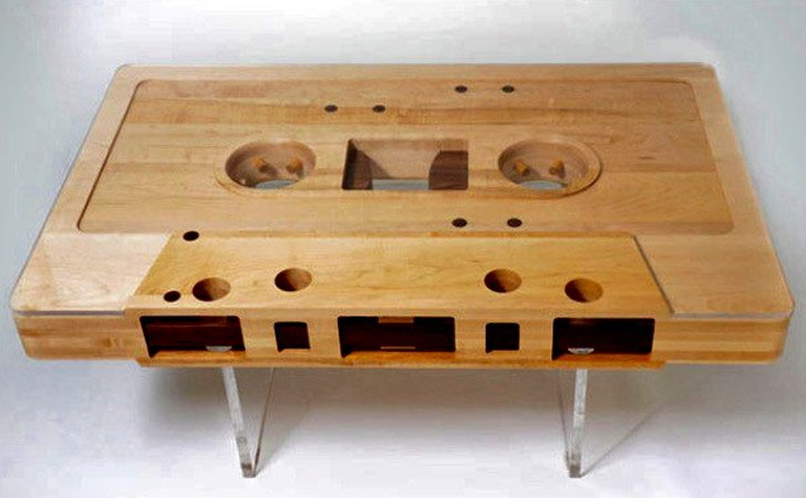 CassetteCoffeeTable Awesome Stuff - Cassette coffee table
