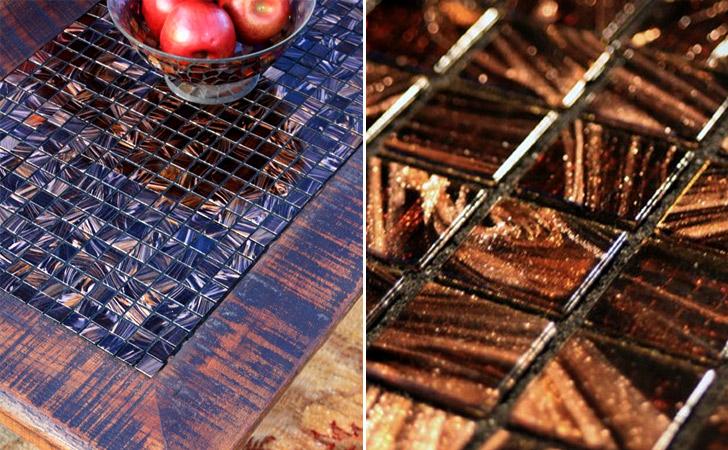 Chocolate Mosaic Rustic Coffee Table