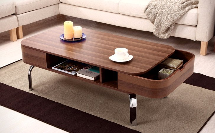 Coffee Table With Pocket Drawers