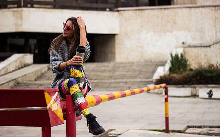 Colorful Wool Print Fashion Leggings