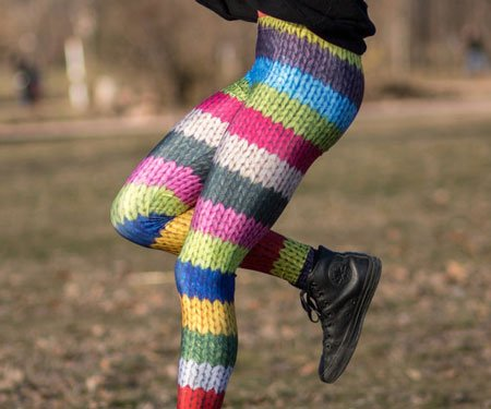 Colorful Wool Print Fashion Leggings
