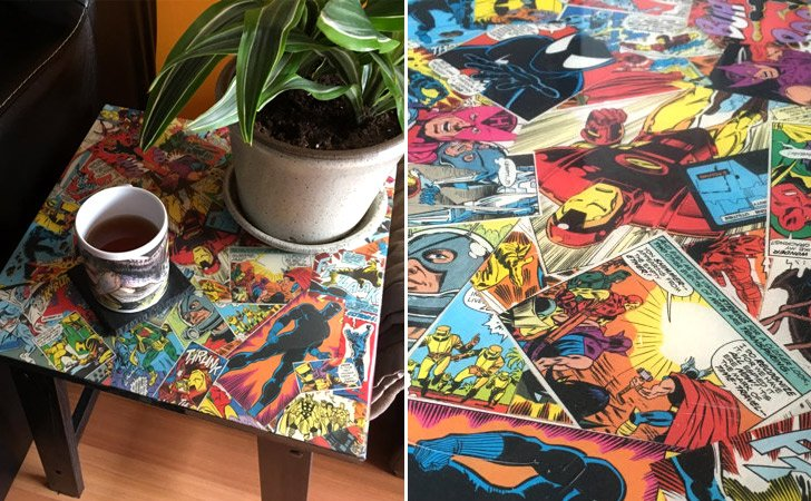 Comic Book Coffee Table