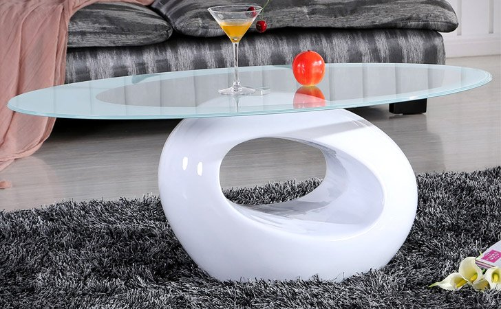 Contemporary Oval Coffee Table