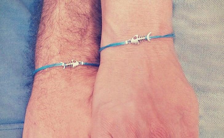 Couples Minimalist Fish Frame Bracelet Set