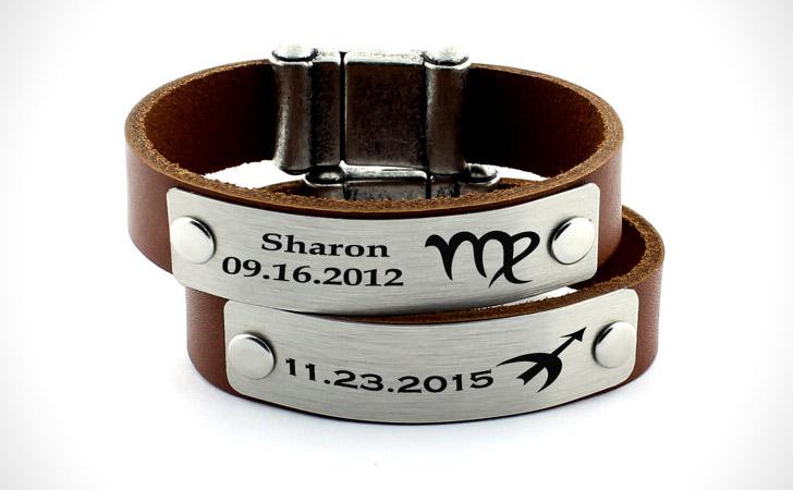 Couples Personalized Zodiac Bracelets - Matching Bracelets For Couples