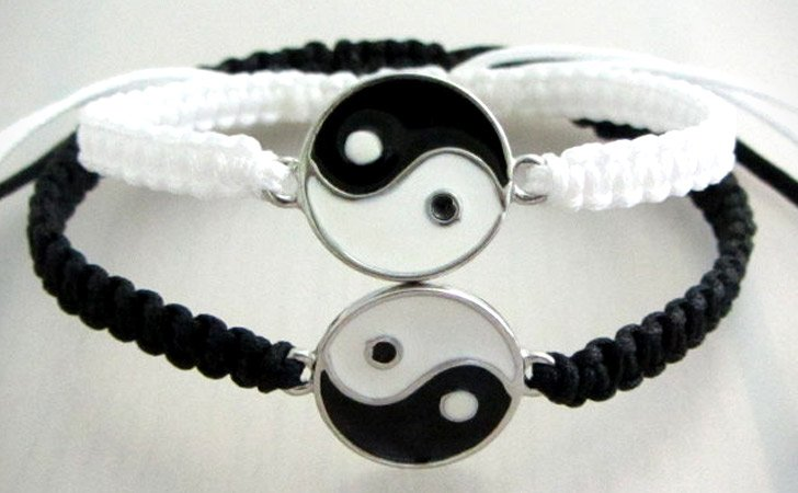 Custom Yin Yang Couples Bracelet Set