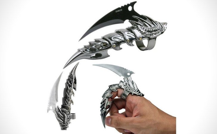 Dragon Claw Knife Ring