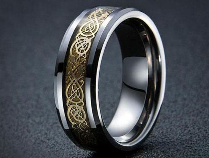 Dragon's Breath Steel Vikings Ring