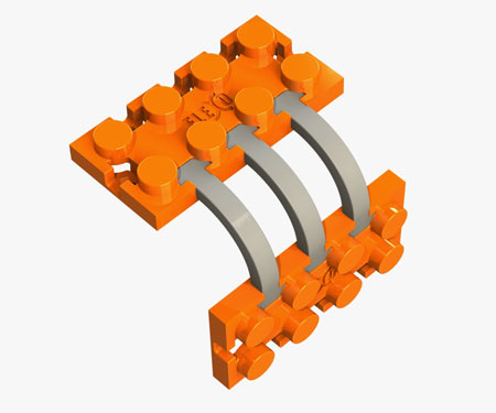 Flexible Building Bricks