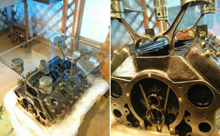 Ford Flathead Engine Coffee Table
