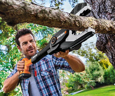 Fully-Enclosed Cordless Chainsaw