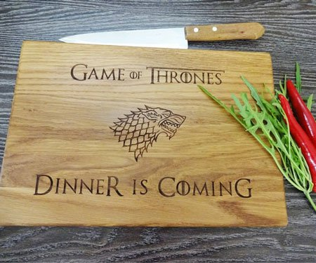 Game Of Thrones Dinner Is Coming Cutting Board