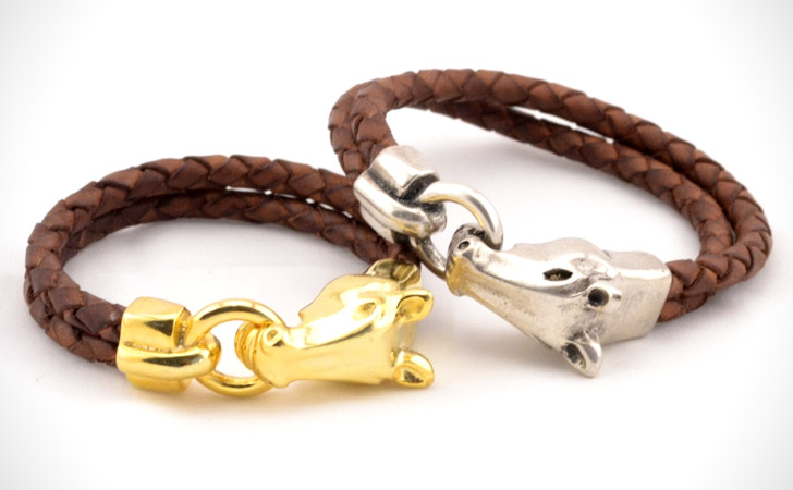 Gold & Silver Tone Horse Head Matching Bracelets - Matching Bracelets For Couples