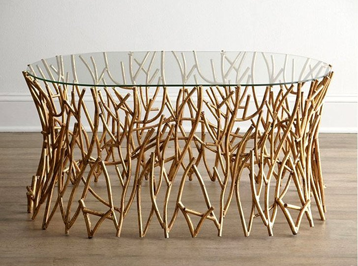 unique table. Interesting Unique Golden Branches Coffee Table To Unique I