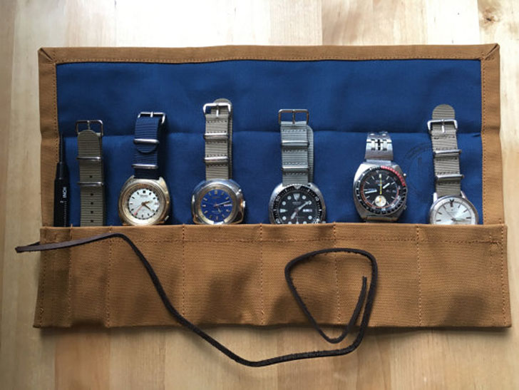 Handmade 5-Slot Watch Roll