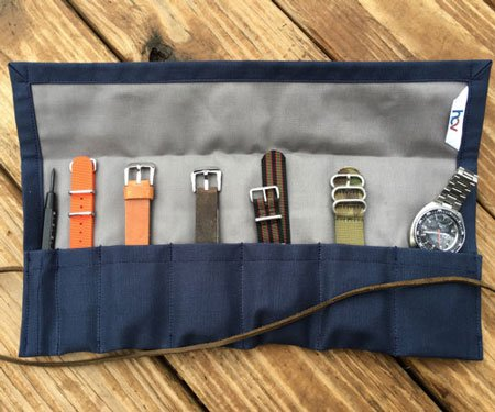 Handmade 5-Slot Watch Roll