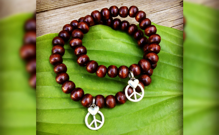 His And Hers Peace And Love Beaded Set - Matching Bracelets For Couples