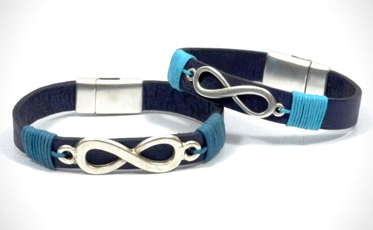 His & Hers Infinity Wrap Bracelets