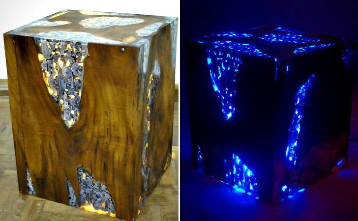 LED Lighting Cube Coffee Table