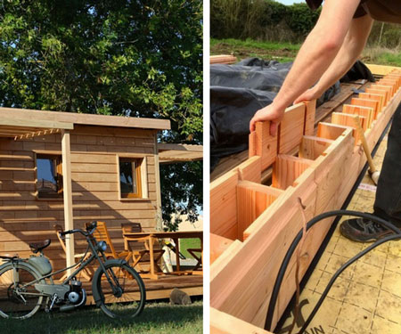 LEGO Style Wooden House Building Bricks