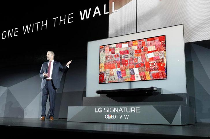 LG Wallpaper TV Display