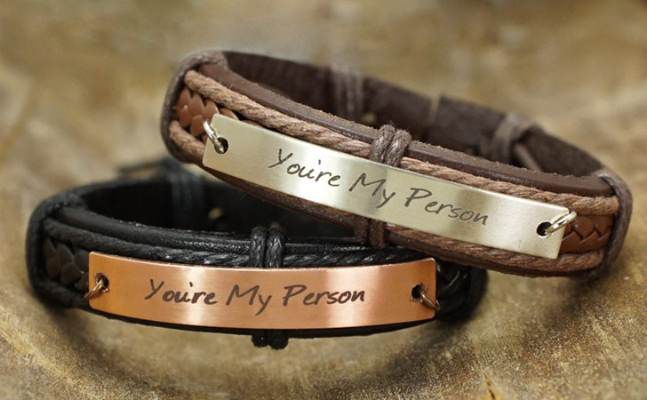 Matching Leather You Re My Person Bracelets For S