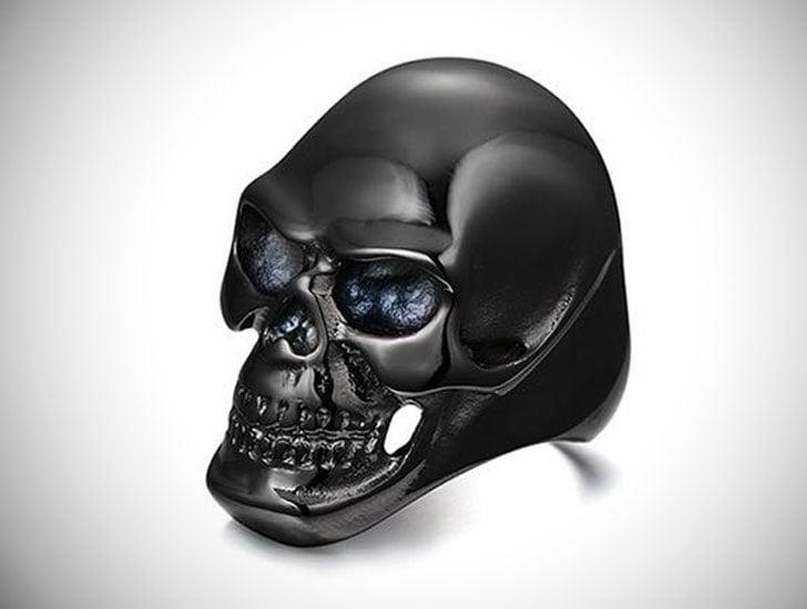 Mens Black Skull Rings