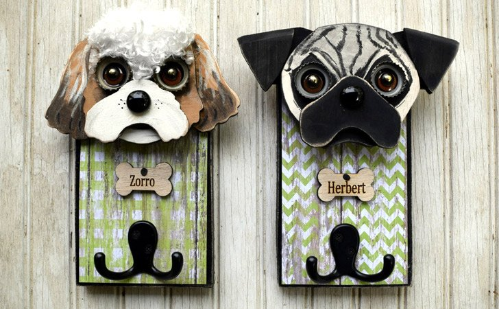Personalized Dog Leash Holder