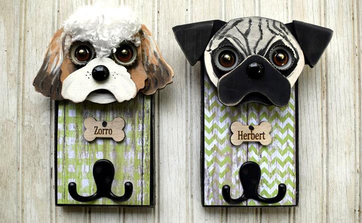 Personalized Dog Leash Holder