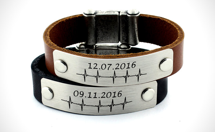 Personalized Special Date Couples Bracelets