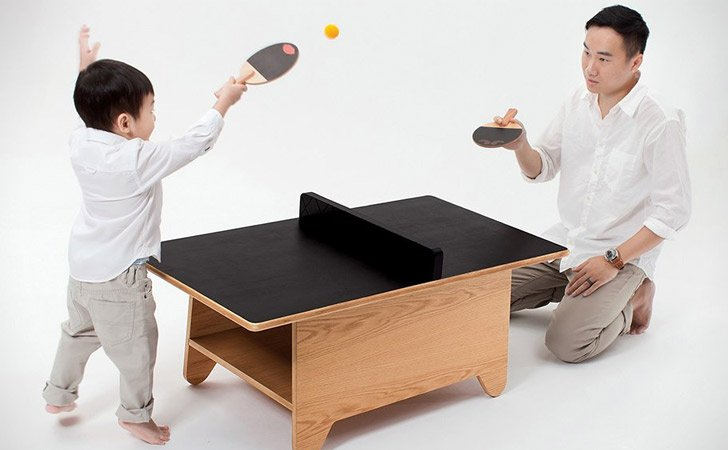 Ping Pong Chalkboard Coffee Table