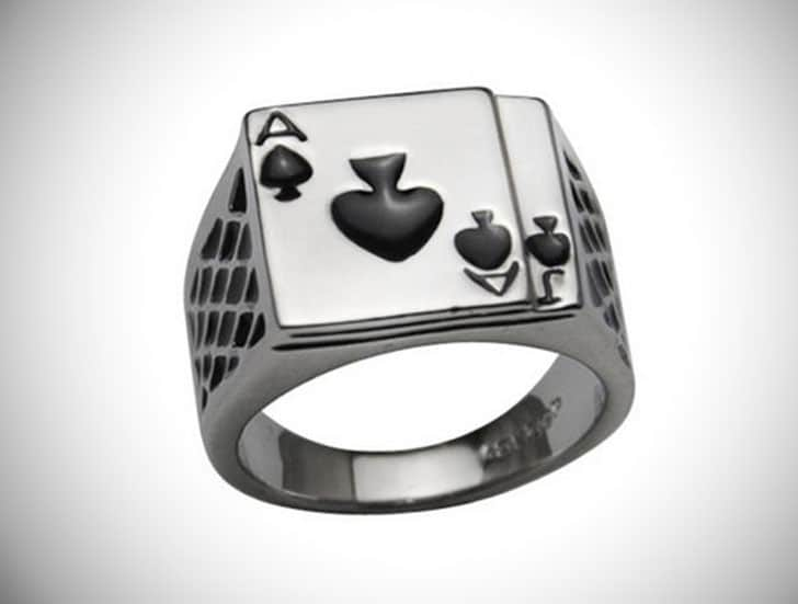 poker ring - Cool Rings for Men