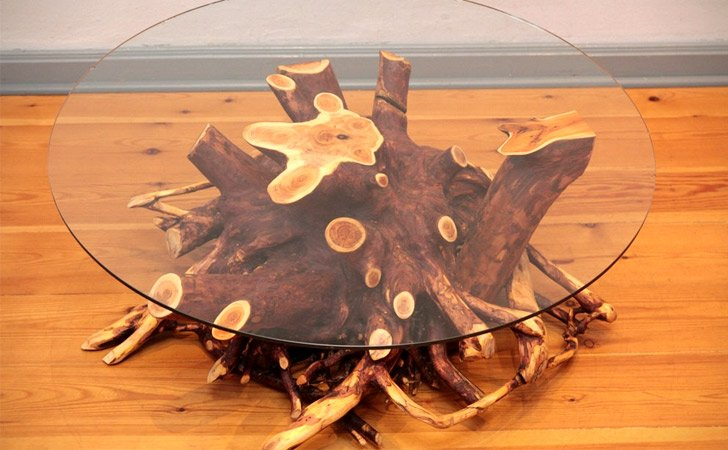 Real Tree Root Coffee Table