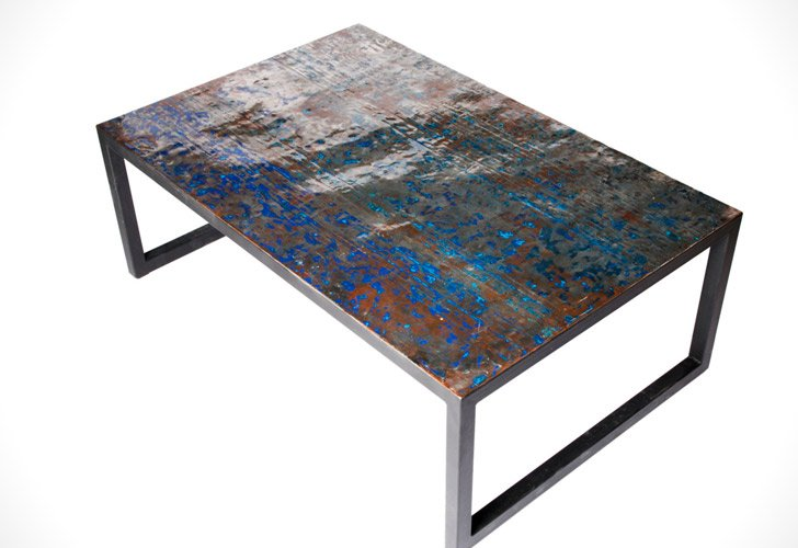 Recycled Oil Drum Coffee Table